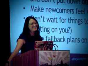 Tessa Mero presenting her Keynote